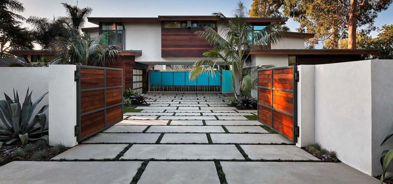 Artistic Concrete Contemporary Driveway