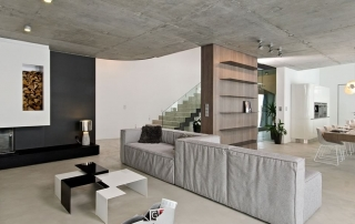 Artistic Concrete Modern Home Concrete Interior