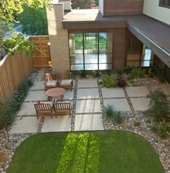 Custom Squares Patio Zen
